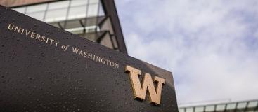 University of Washington signage