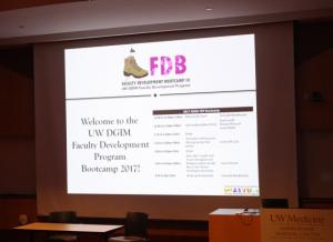 2017 Faculty Development Boot Camp welcome screen