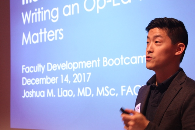 Joshua Liao giving a lecture